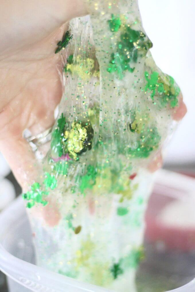 Make slime with a St Patrick Day themed activity