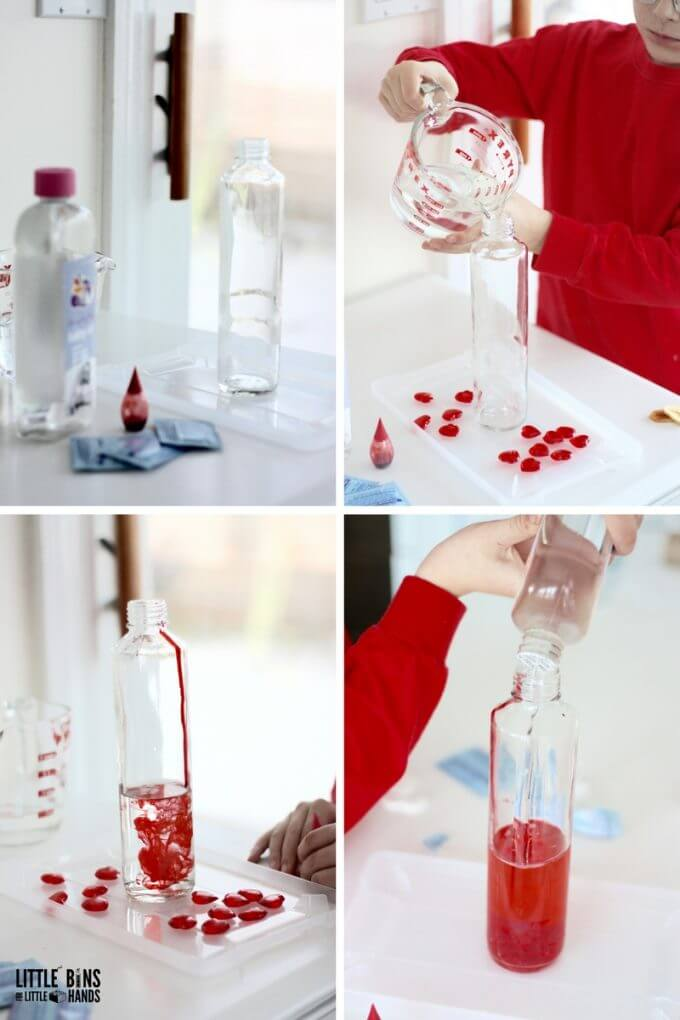 Valentines Day science activity supplies