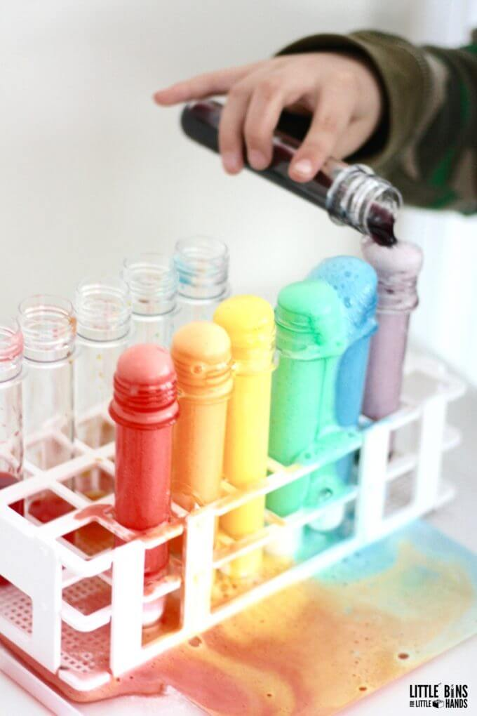 Rainbow Science Reactions for Kids