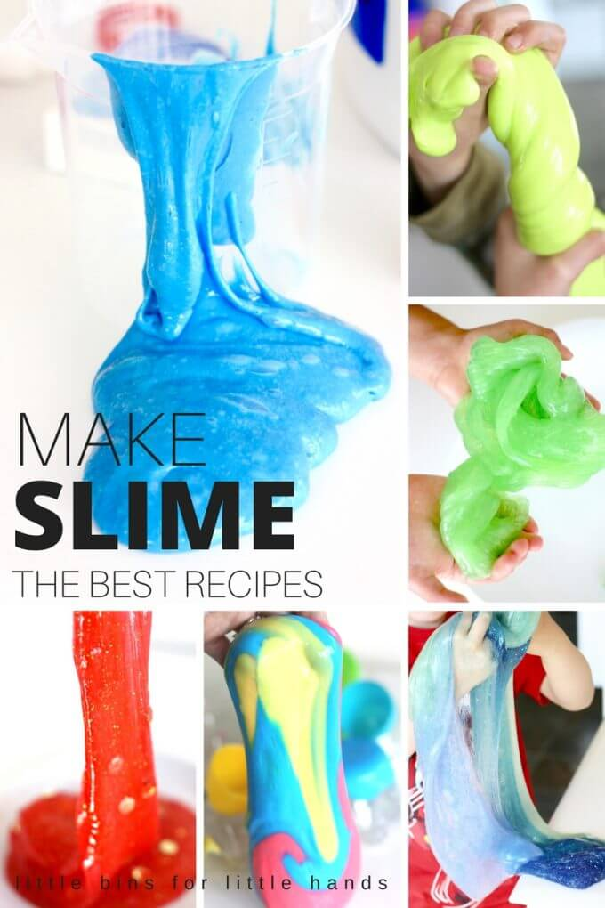 Best Slime Recipes for Making Slime. Make slime with kids! Everything you need to know to make awesome slime including taste safe slimes, borax free slimes, stretchy slimes, flubber, and liquid starch alternative slimes. Homemade slime for kids science
