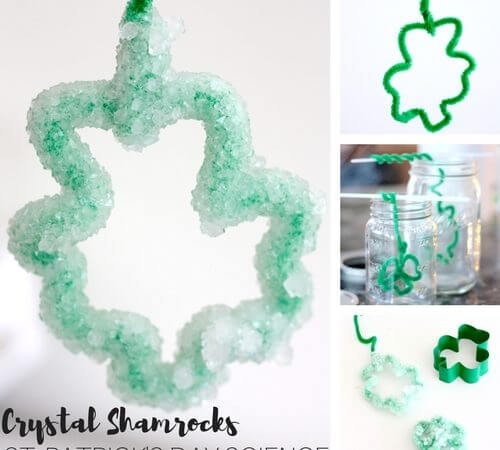 Grow Crystal Shamrocks for St. Patrick's Day Science