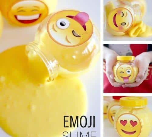 Emoji Slime Kids and Tween Activity