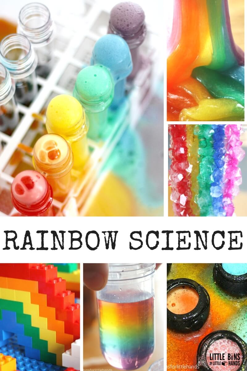 Rainbow slime and rainbow stem science projects