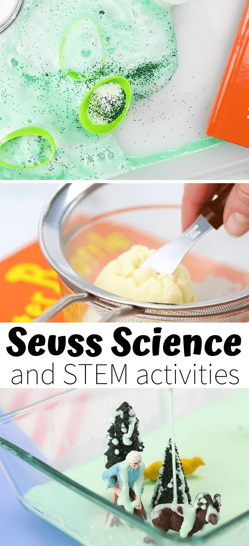 Easy to set up Dr. Seuss science and STEM activities for Kids