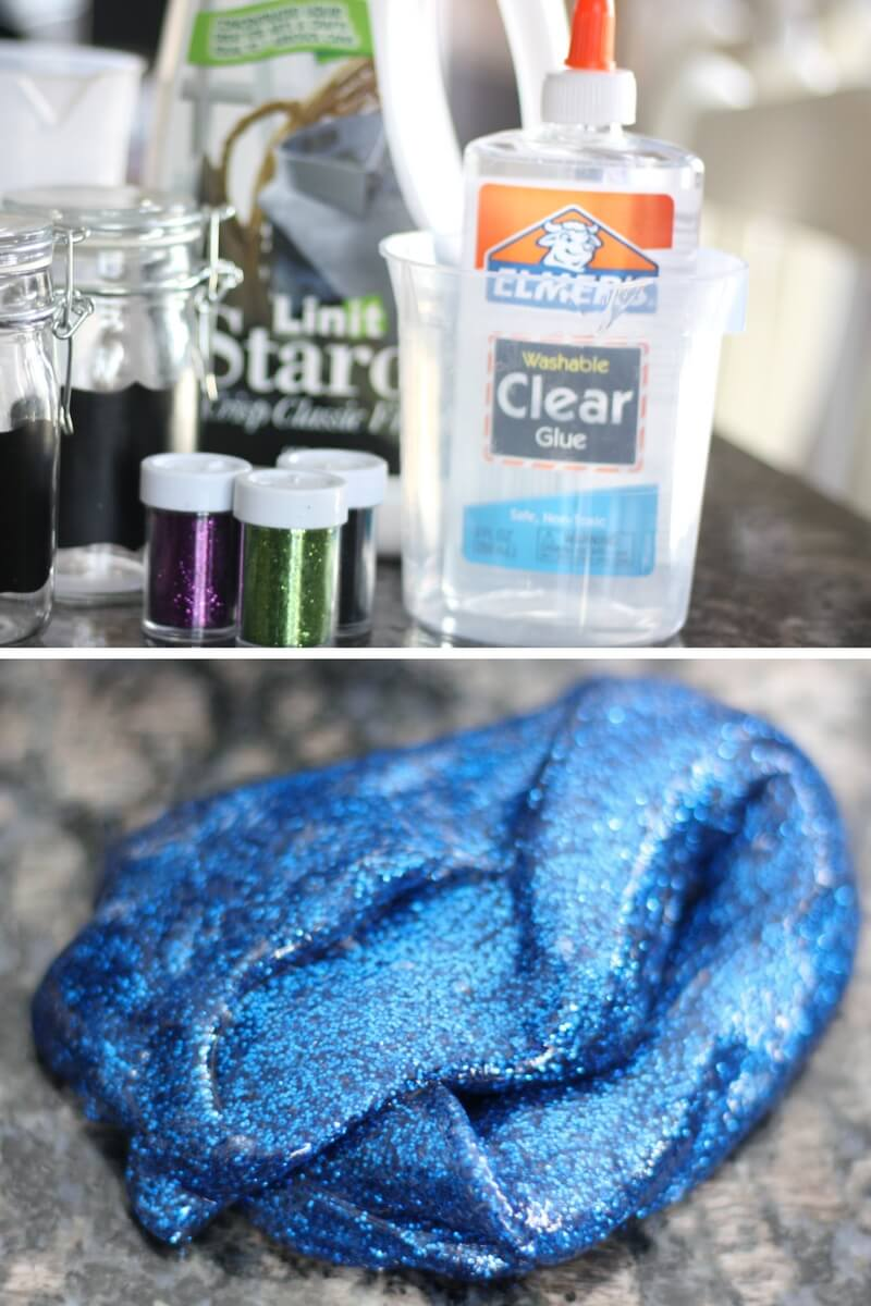 how to make clear slime with white glue