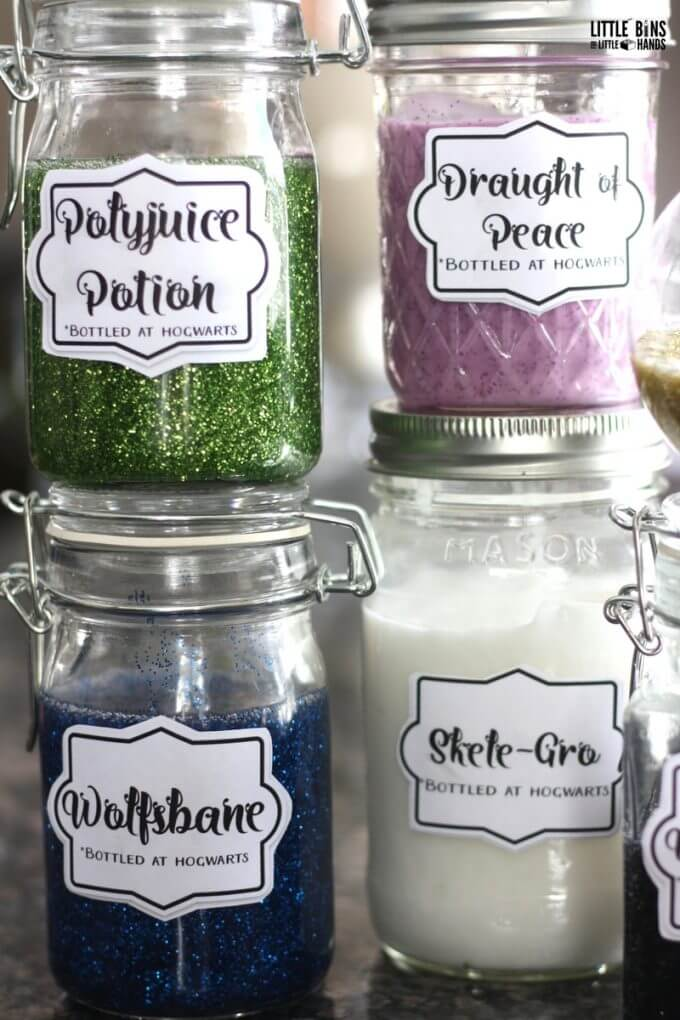 Harry Potter potion making activity with homemade slime!