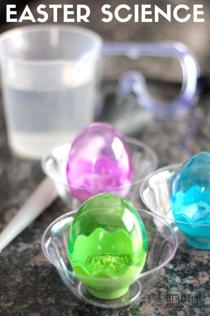 Plastic Easter Egg Baking Soda Science Activity For Kids