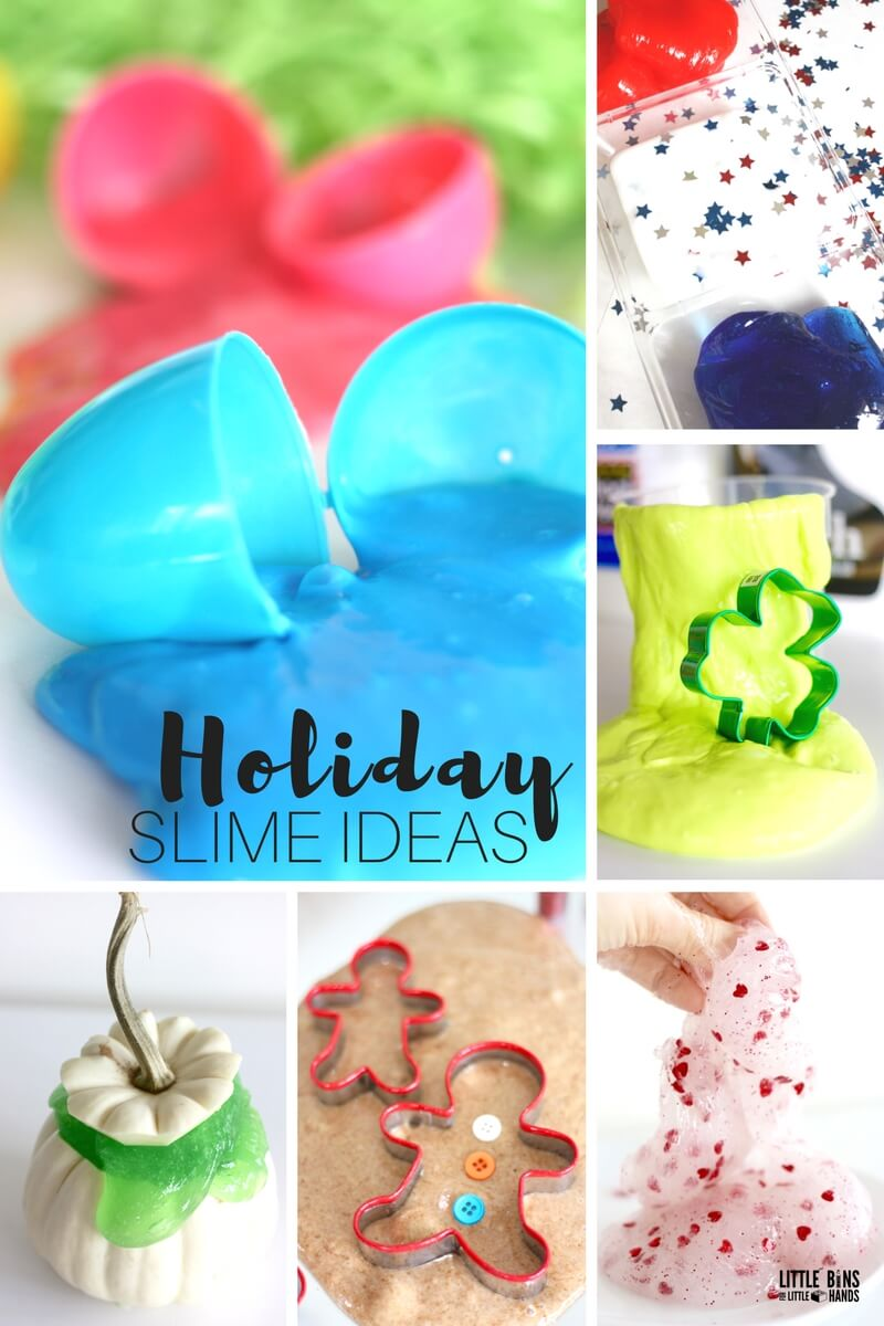 How To Make Holiday Slime For Kids Science Making Holiday Slime Tips, Ideas,
