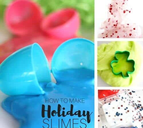 How To Make Holiday Slime Ideas, Tips, and Slime Recipes.