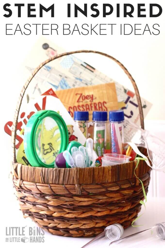 Stem easter basket ideas for kids science activities stem easter basket ideas and fillers for kids easter baskets fill your easter basket with negle Images
