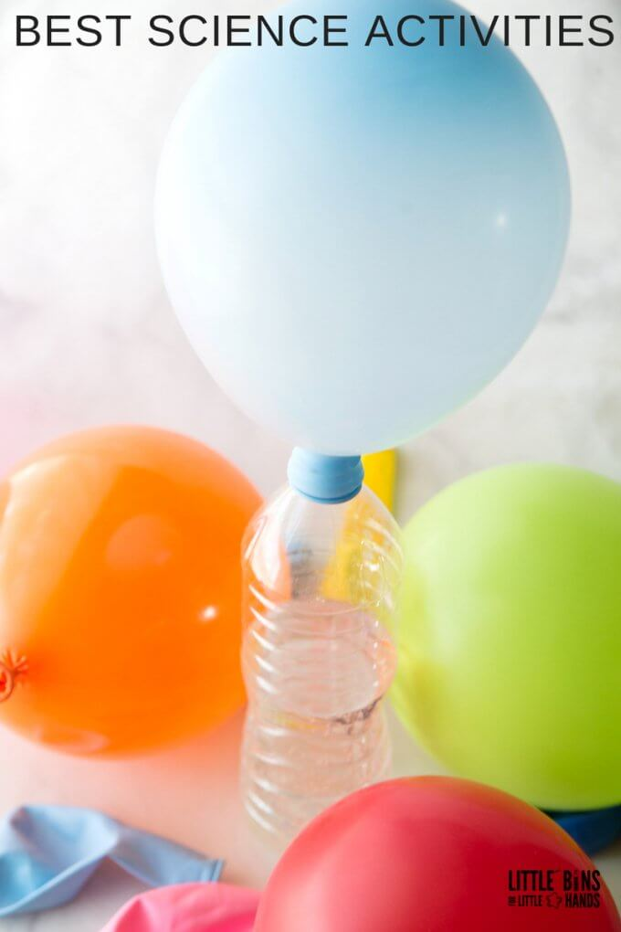 best science activity for classic science is blowing up a balloon with baking soda and vinegar