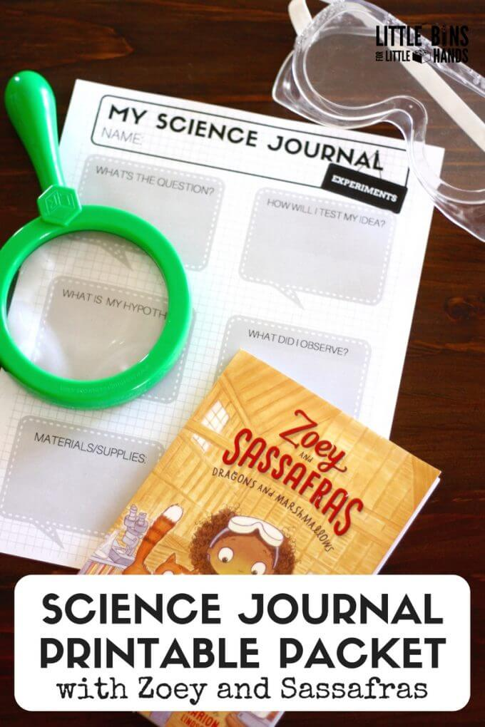 Printable Science Journal Zoey and Sassafras Home Science Activities