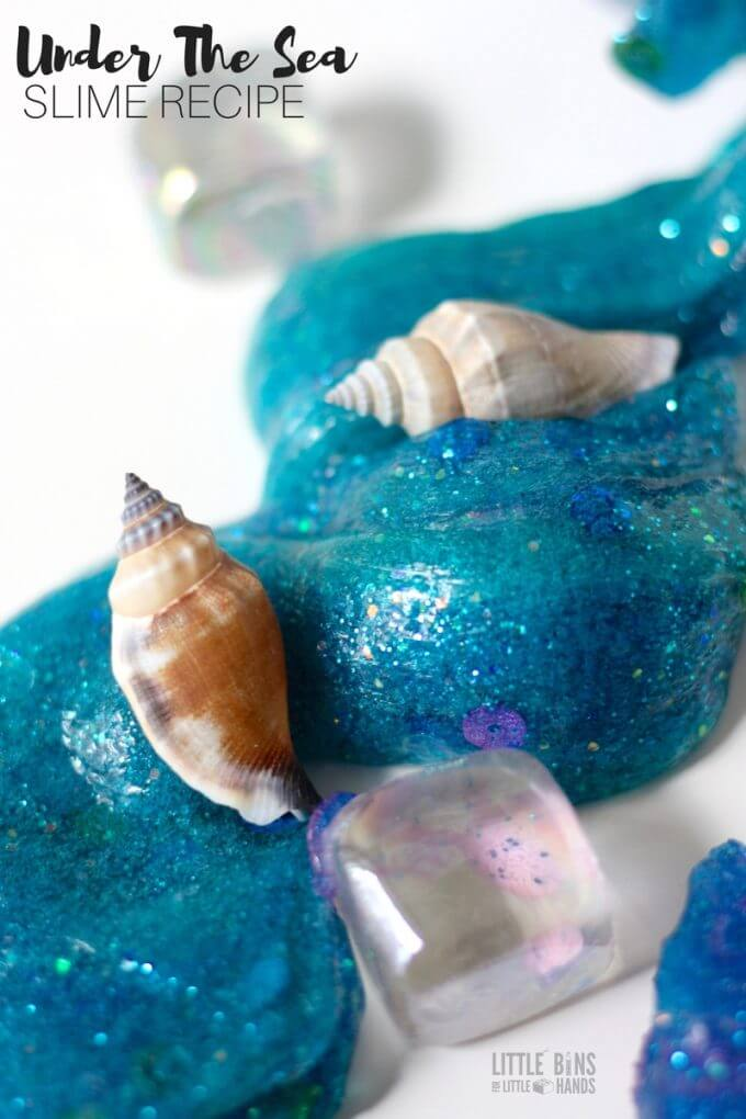 Under the sea! Learn how to make mermaid slime with your kids!