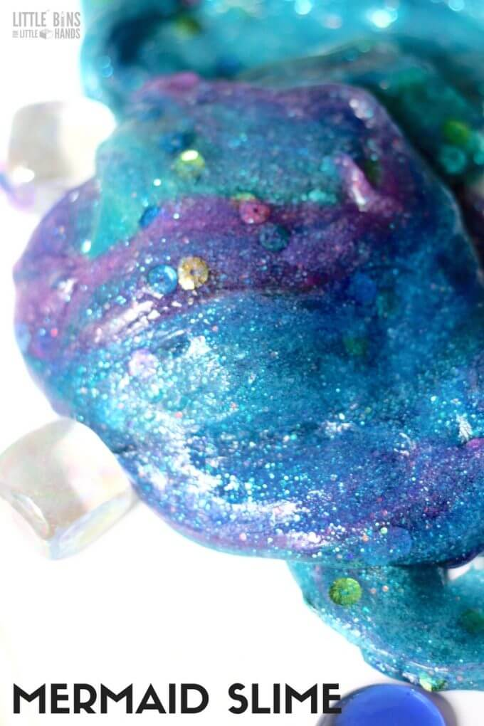 How do you make mermaid slime? Here's our slime making recipe for a mermaid theme!