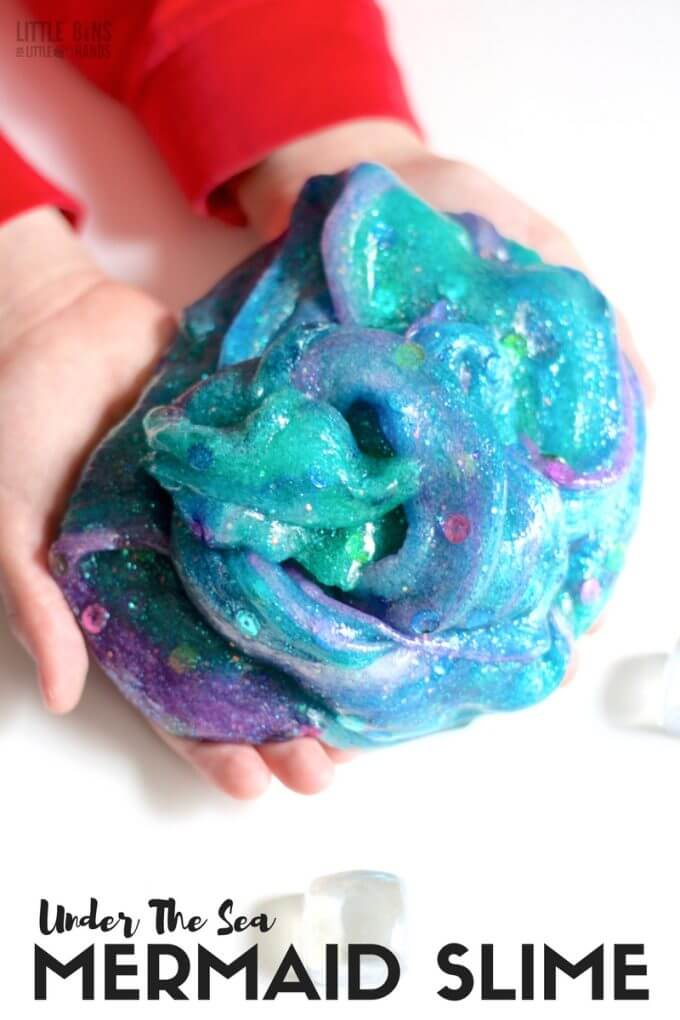 How To Make Mermaid Slime Little Bins For Little Hands