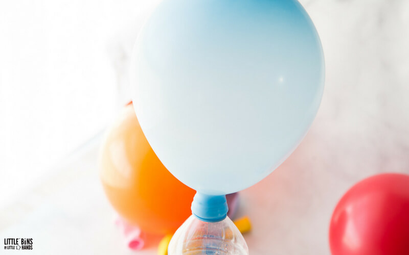 balloon baking soda science and chemistry for kids