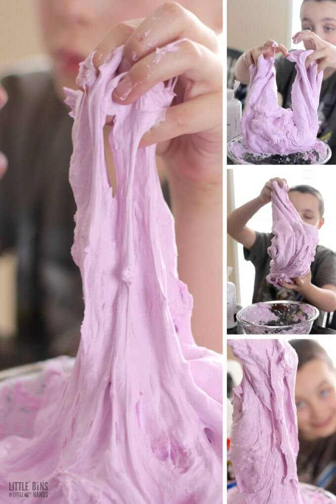 Slime science and sensory play for kids