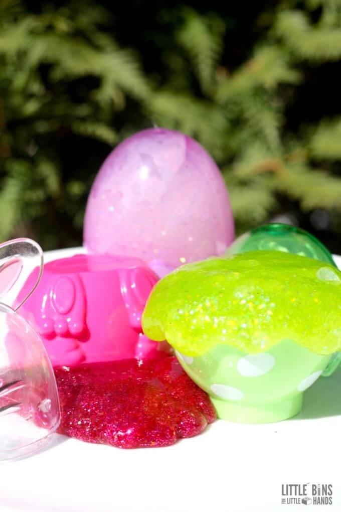 Enjoy your slime recipe and science experiment outdoors