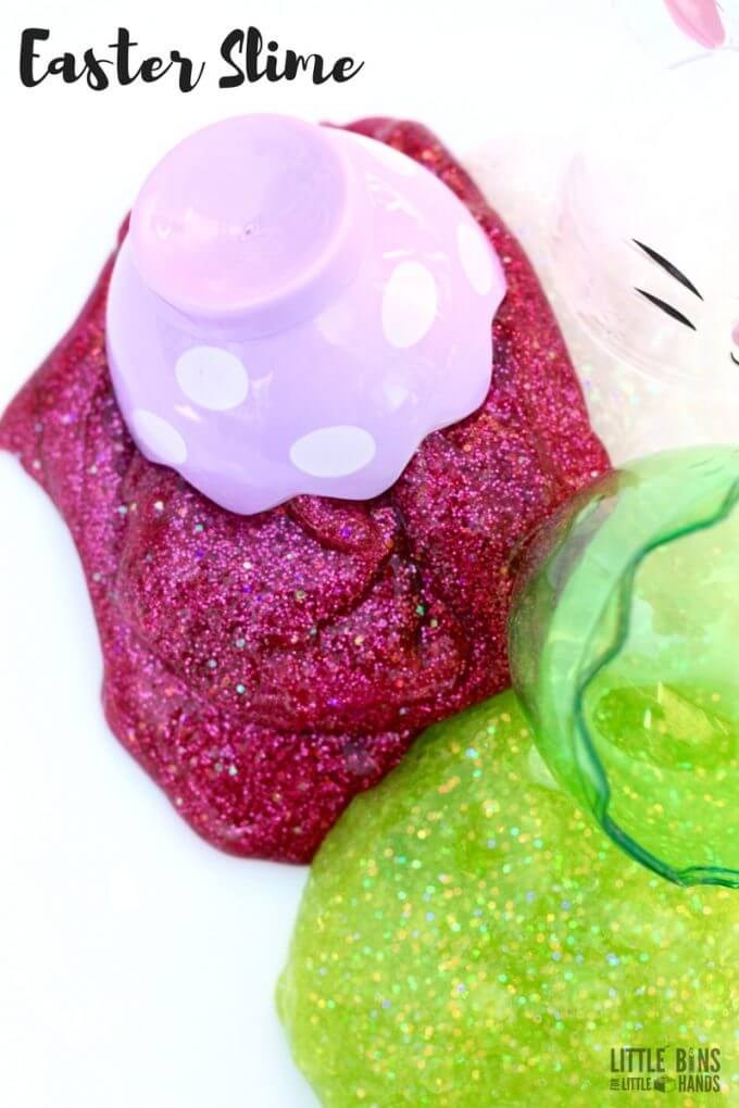 How To Make Easter Slime Recipe for Kids Easter Activities