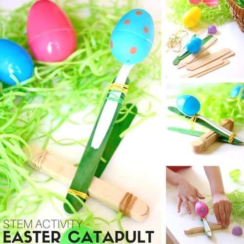 Easier Catapult STEM Activity for kids