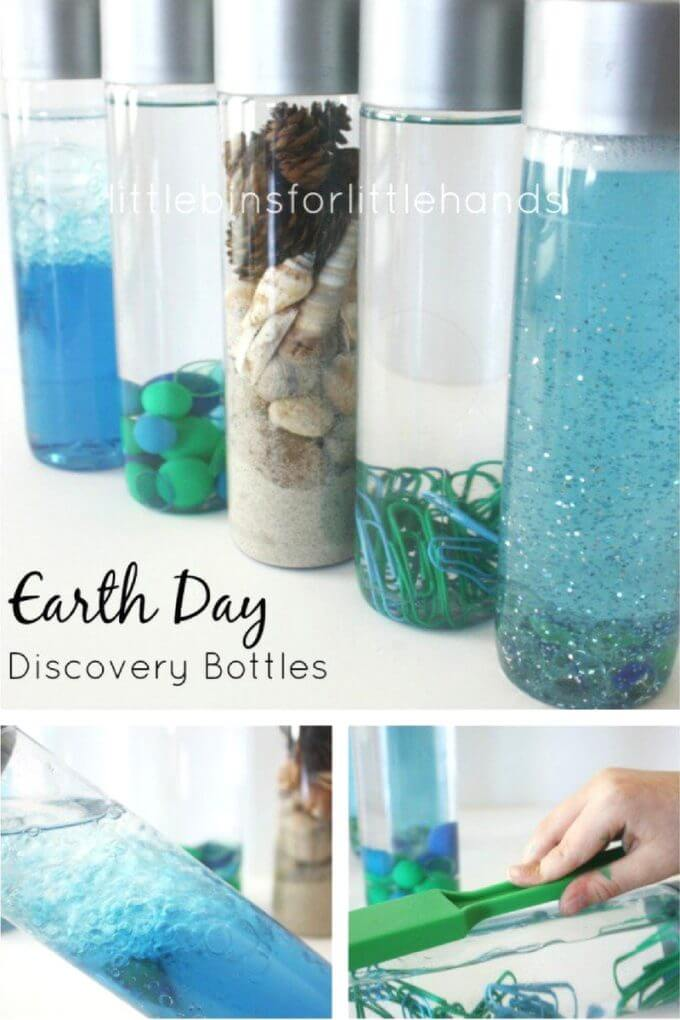 Earth Day Discovery Bottles Science Experiments and Activities