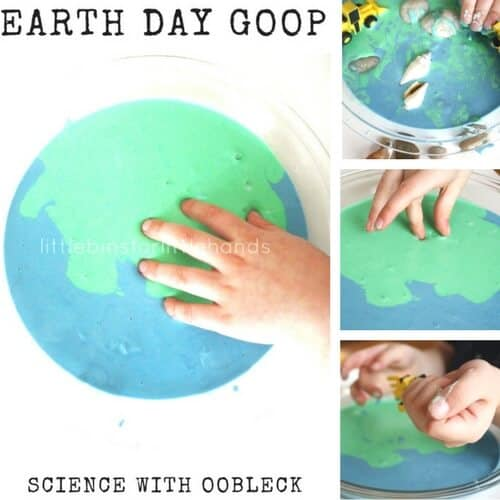 Make Earth Day Slime Recipes : Earth Day Oobleck Goop