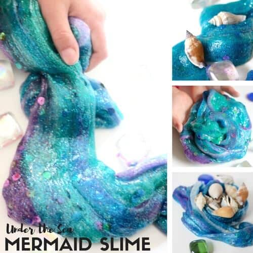 How to make mermaid slime recipe for sensory science
