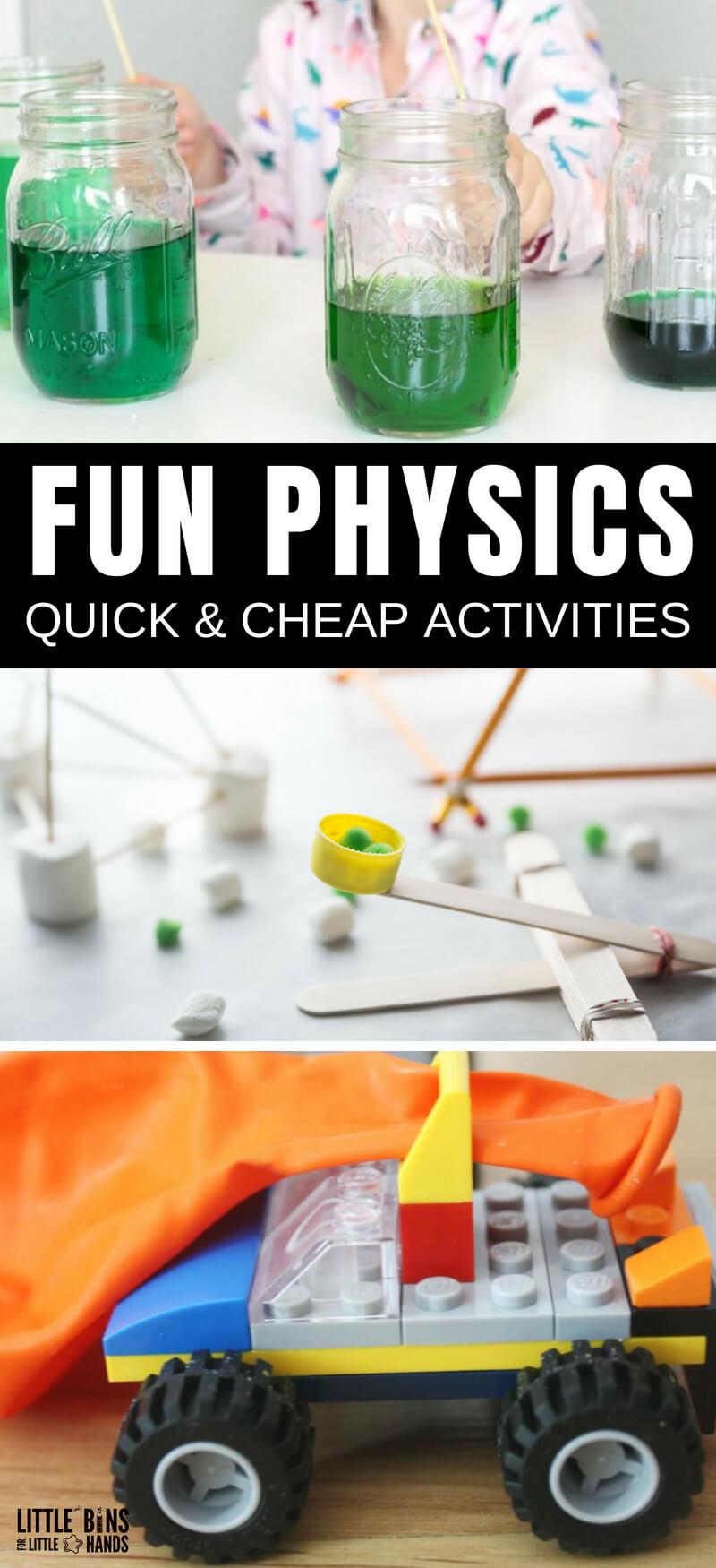 Simple Physics Experiments For Kids | Little Bins for Little Hands
