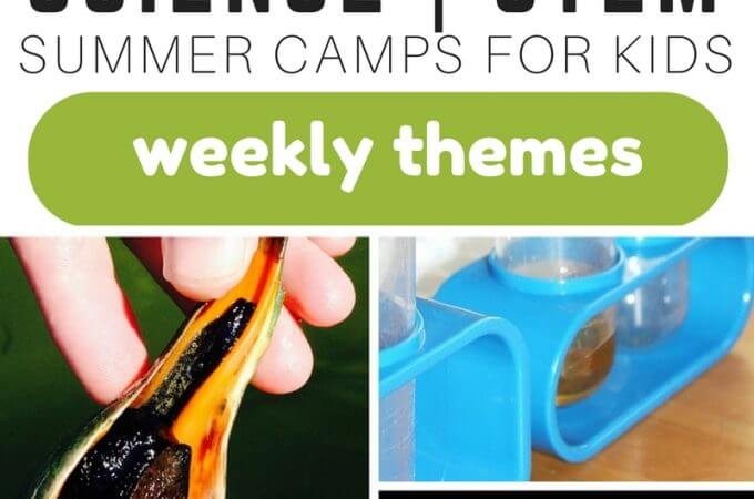 Summer Science Camp Experiments and STEM Activities with Weekly Themes
