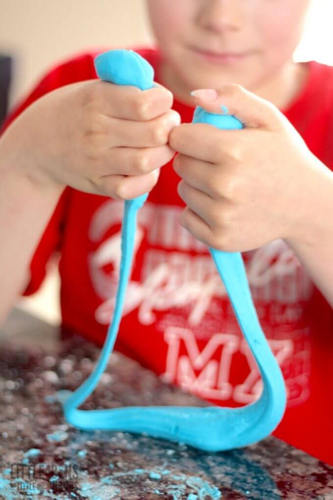 Borax Free. Corn Starch Slime Recipe for Kids.