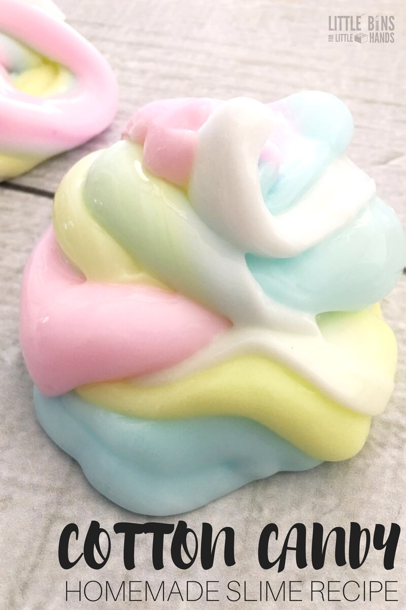 cotton candy slime