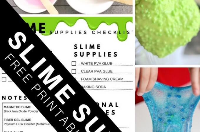 Printable Slime Supplies Checklist for Making Slime