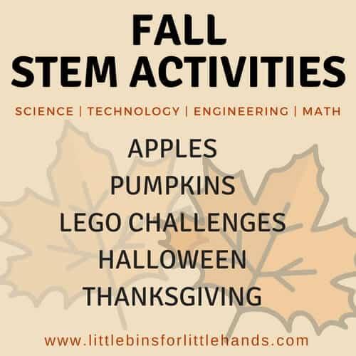 Fall STEM activities for preschoolers