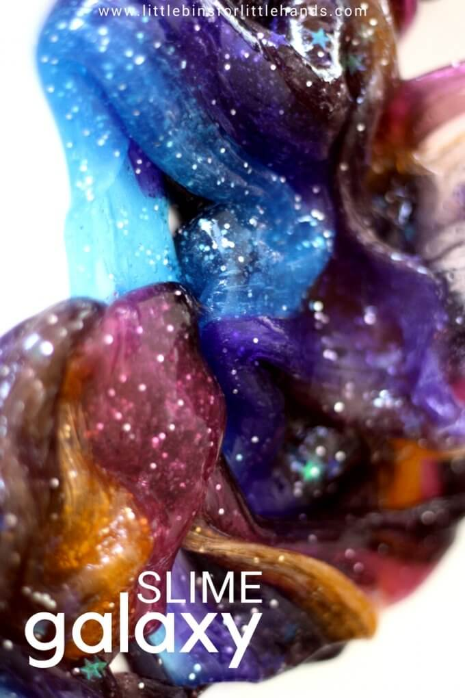 How To Make Galaxy Slime Recipe for Space Slime, Solar Eclipse Activities, and Science for Kids