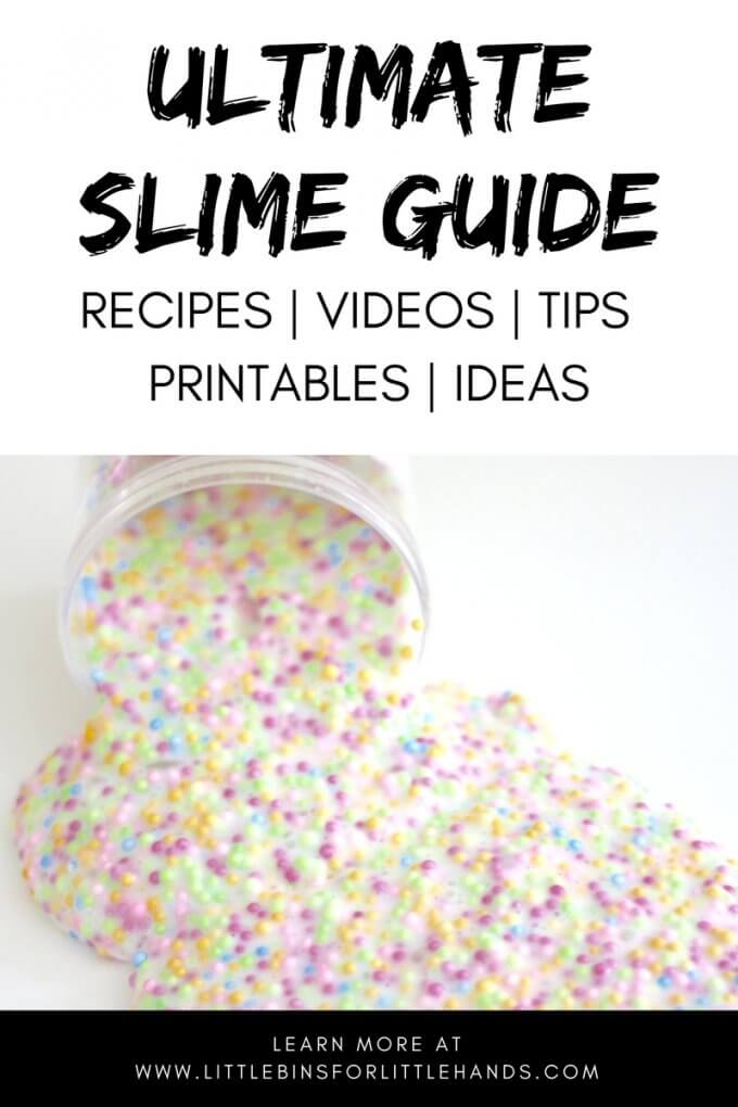 Ultimate Slime Making Guide for Kids and Adults! Learn how to make all kinds of slime recipes, check out our slime making videos, and use our printable slime resources. Plus find cool slime ideas for holidays, seasons, and themes!