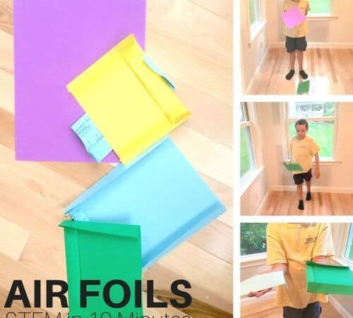 Air Resistance STEM Activity in 10 Mins or Less with Air Foils!