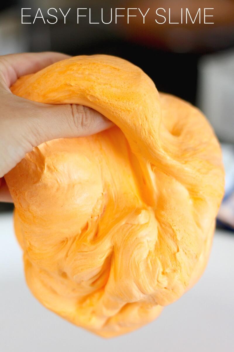 Homemade Orange Pumpkin Fluffy Slime Recipe for Kids To Make | 800 x 1200 jpeg 132kB