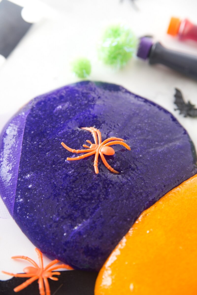 Purple Halloween Slime Recipe