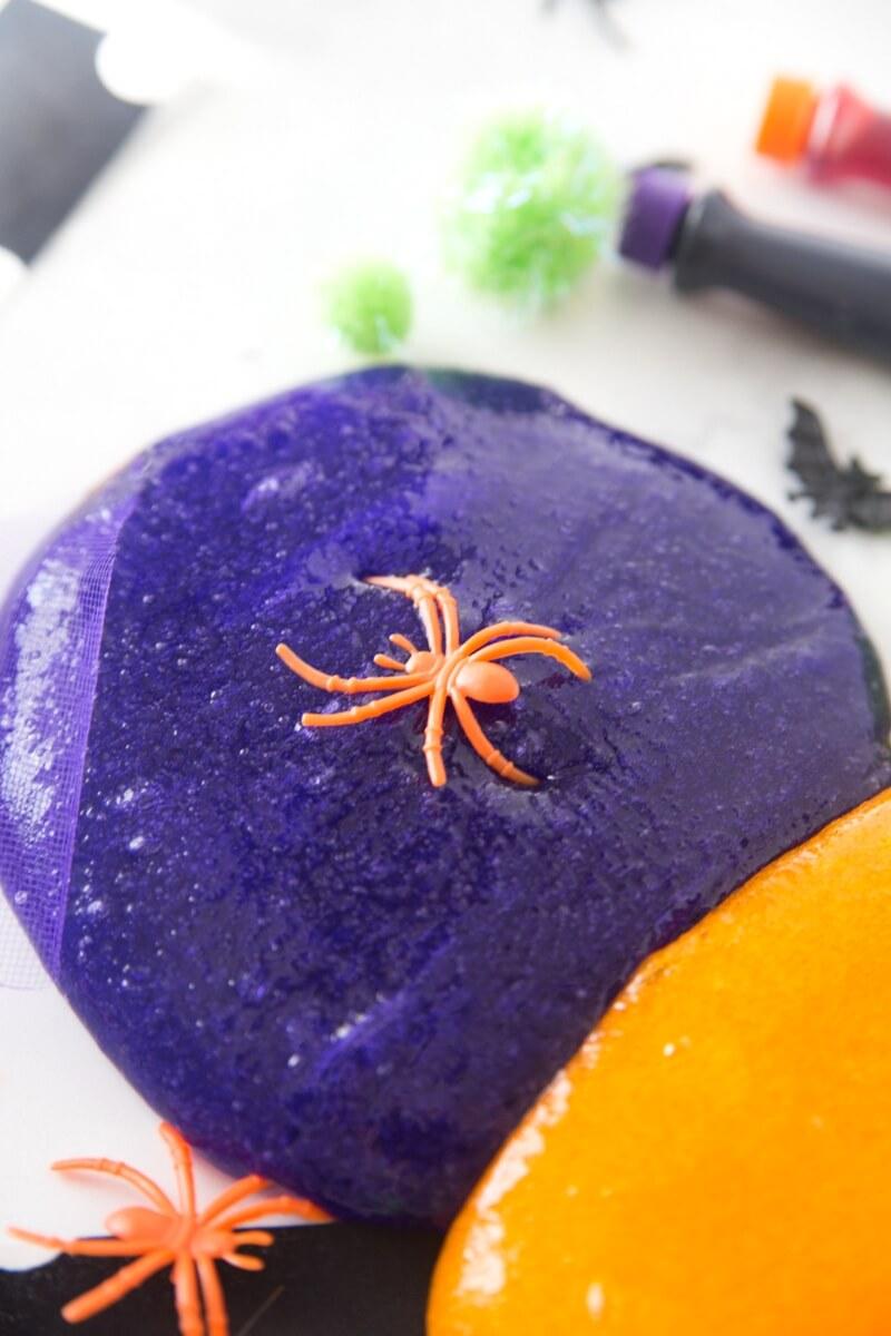 How To Make Easy Halloween Slime Recipe Idea For Kids