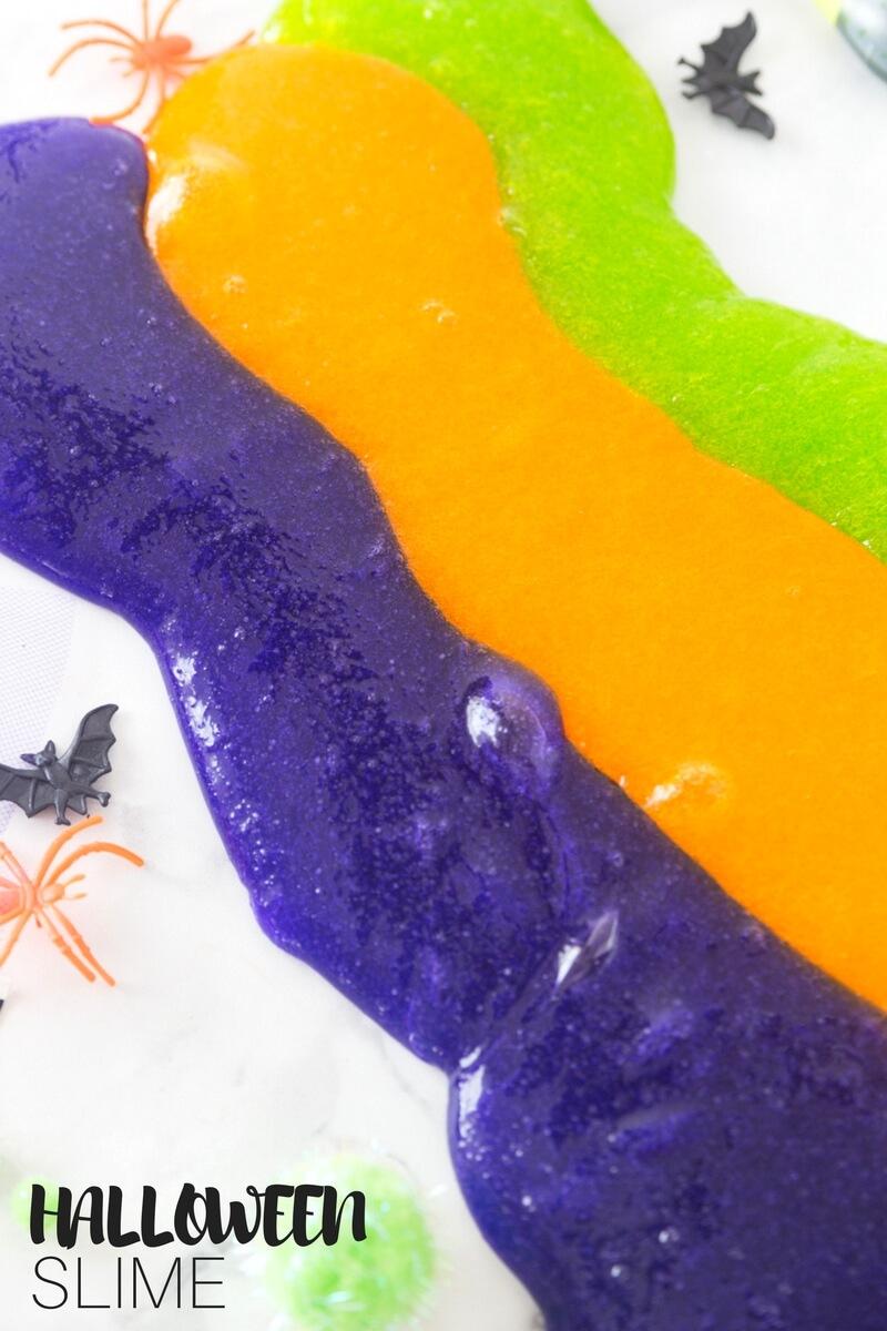 Halloween Slime Recipe for Kids Using Clear Elmers Glue