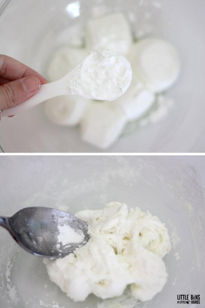 edible slime with marshmallows and cornstarch