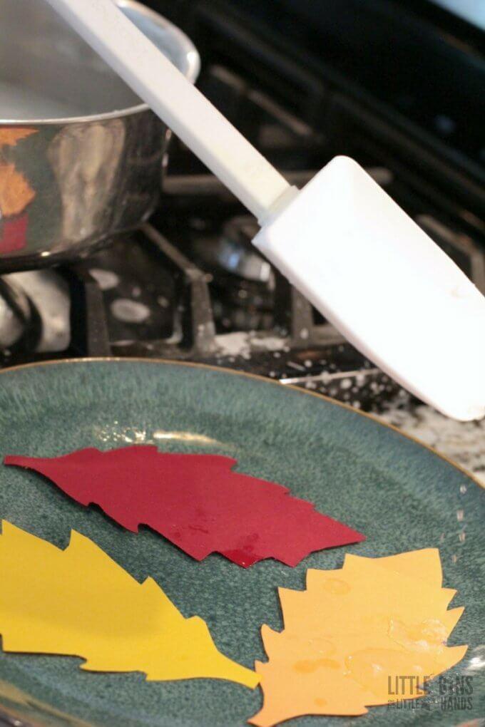 Salt Crystal Leaves Science Experiment Prep