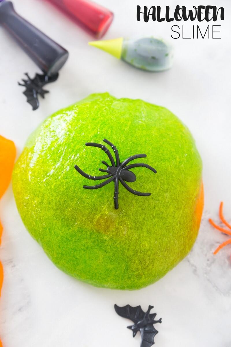 Halloween Slime Recipe for Kids Halloween Slime Ideas