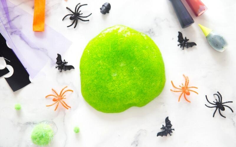Halloween green slime recipe