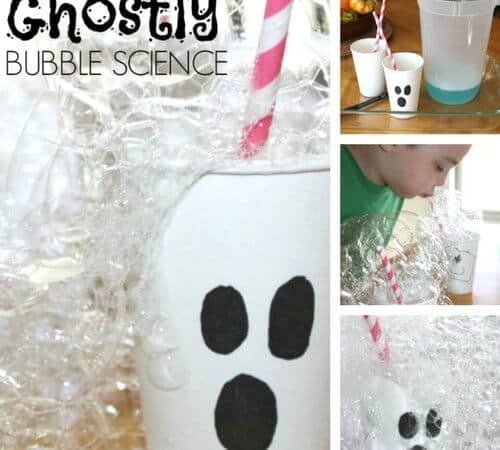 Halloween Bubble Science Experiment and Ghost Activity