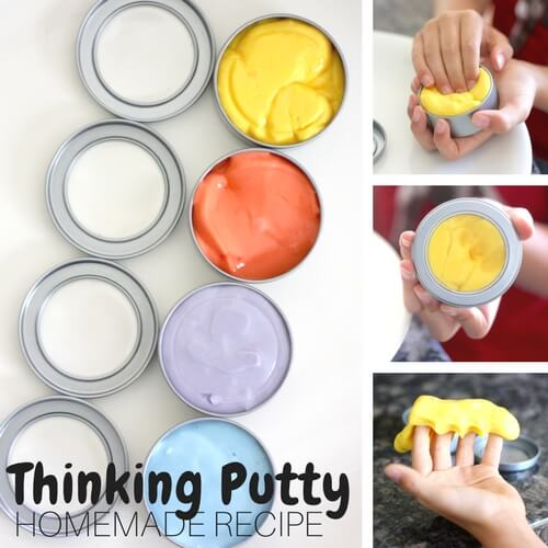 Homemade Slime Recipe : Thinking Putty Slime Recipe or Fidget Slime Recipe