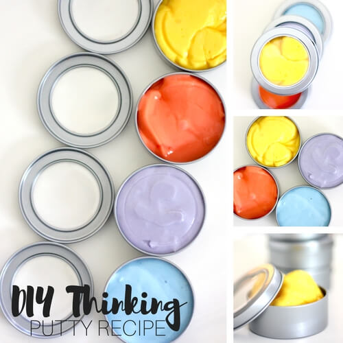 How To Make Homemade Thinking Putty Recipe for Kids