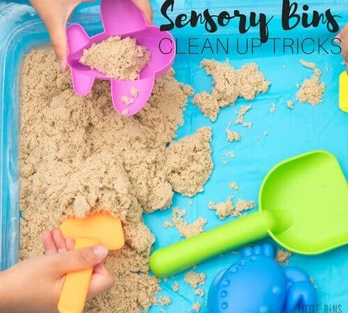 How to Clean Up Sensory Bins in a Snap with Easy Tricks and Tips