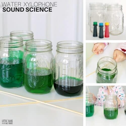 Water Xylophone Sound Science Experiment for Kids Physics