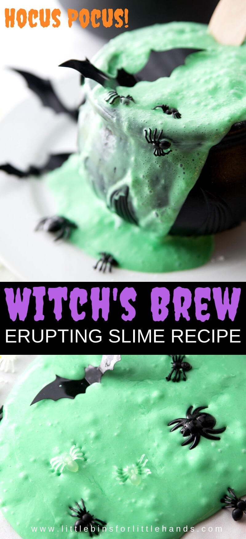 bubbling slime recipe hocus pocus theme slime making activity